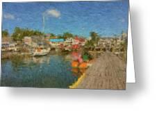 Boothbay Harbor At 5 Greeting Card