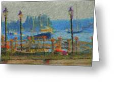 Boothbay Harbor At 8 Greeting Card