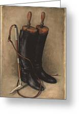 Boots And Whip Greeting Card