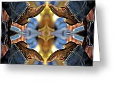 Boots Kaleidoscope Greeting Card by Joan Carroll