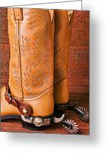 Boots With Spurs Greeting Card by Garry Gay