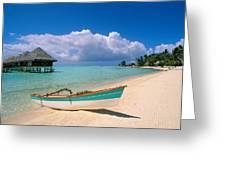 Bora Bora, Hotel Moana Greeting Card by Greg Vaughn - Printscapes