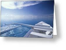 Bora Bora, Outrigger Greeting Card