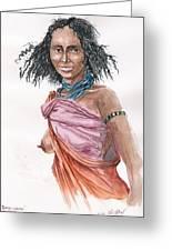 Boran Woman Greeting Card