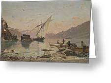 Bord Du Lac A Rivaz Greeting Card