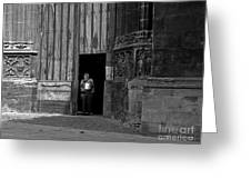 Bordeaux Church Door Greeting Card