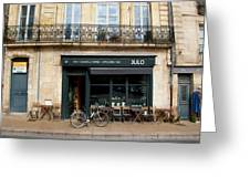Bordeaux Storefront Greeting Card