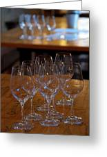 Bordeaux Wine Glasses Greeting Card