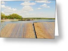 Border On Zambezi River Greeting Card