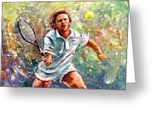 Boris Becker Greeting Card