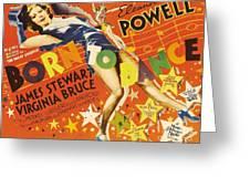 Born To Dance 1936 Retro Movie Poster Greeting Card