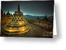 Borobudur Temple Central Java Greeting Card