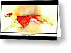 Borzoi Red Flight Greeting Card