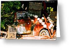 B.o.'s Fish Wagon In Key West Greeting Card