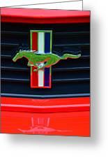 Boss 302 Ford Mustang Emblem Greeting Card