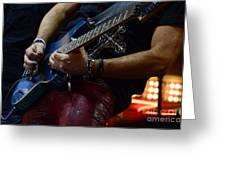 Boss Guitar Player Greeting Card by Bob Christopher