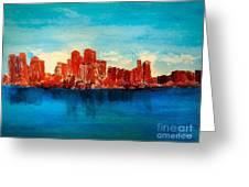 Boston Abstract Greeting Card