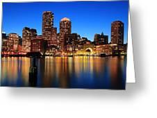 Boston Aglow Greeting Card
