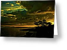 Boston Bay Sunrise Greeting Card