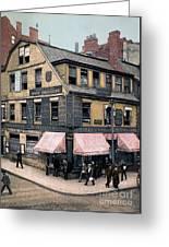 Boston: Bookshop, 1900 Greeting Card