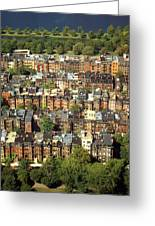 Boston Brownstone Architecture Greeting Card