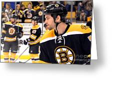 Boston Bruin Adam Mcquaid Greeting Card