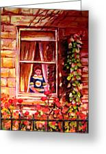 Boston Bruin Fan Greeting Card