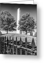 Boston Bunker Hill Monument - Monochrom Greeting Card