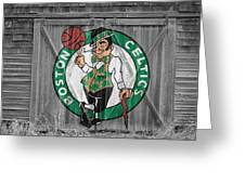 Boston Celtics Barn Doors Greeting Card