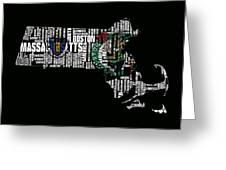 Boston Celtics Typographic Map Greeting Card