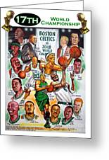Boston Celtics World Championship Newspaper Poster Greeting Card
