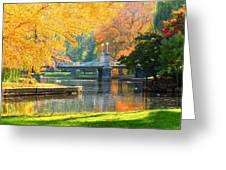Fall Season At Boston Common Greeting Card
