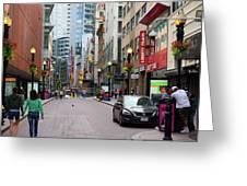 Boston Downtown Crossing Greeting Card