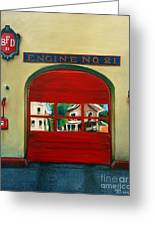 Boston Fire Engine 21 Greeting Card