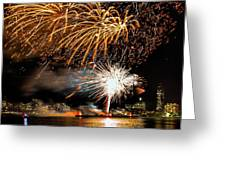 Boston Fireworks On The Charles Greeting Card