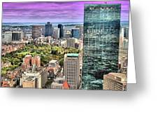 Boston From Above Greeting Card