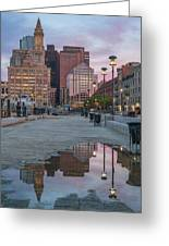 Boston From Long Wharf Greeting Card