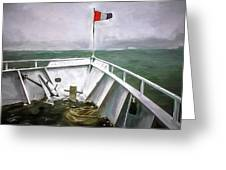 Boston Harbor Cruise  Greeting Card