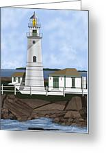Boston Harbor Lighthouse On Brewster Island Greeting Card
