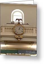 Boston Historical Meeting Room Clock Greeting Card