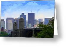 Boston  Greeting Card by Julie Lueders