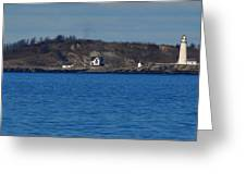 Boston Light And Great Brewster Island Greeting Card