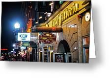 Boston Ma North End Cigar Shop Greeting Card