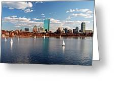 Boston On The Charles  Greeting Card
