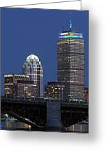 Boston Prudential Center Celebrating 100th Anniversary Of Shaw Market Greeting Card by Juergen Roth