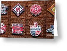 Boston Red Sox World Series Emblems Greeting Card
