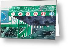 Boston Retired Numbers Greeting Card