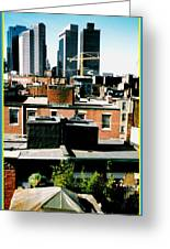 Boston Roof Tops Greeting Card