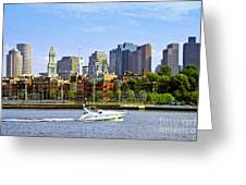 Boston Skyline Greeting Card by Elena Elisseeva