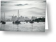 Boston Skyline  Greeting Card